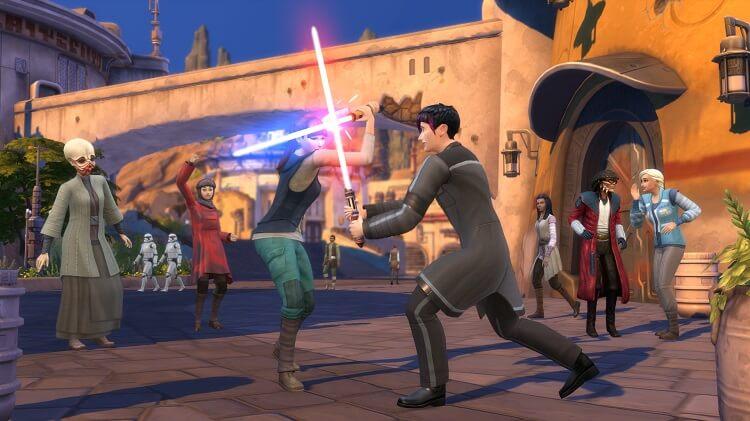 Frame do jogo The Sims Jornada para Batuu