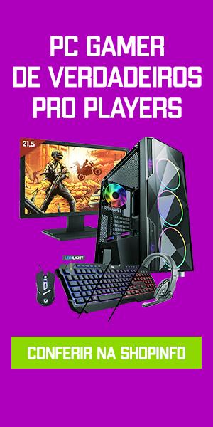 Banner com um setup gamer completo