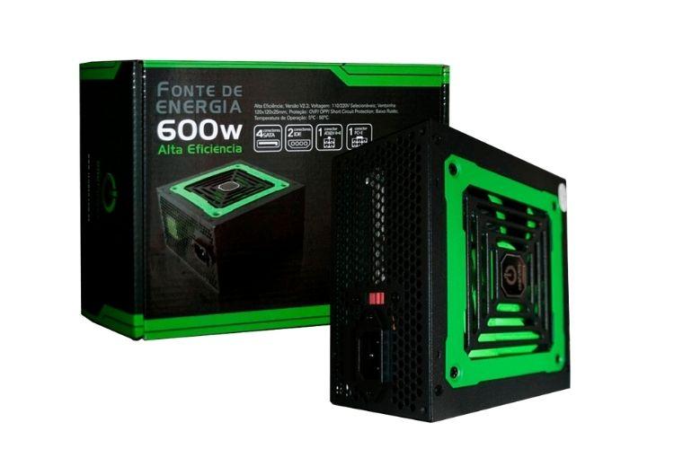 Fonte para computador verde