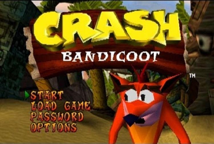 Tela de início Crash 1